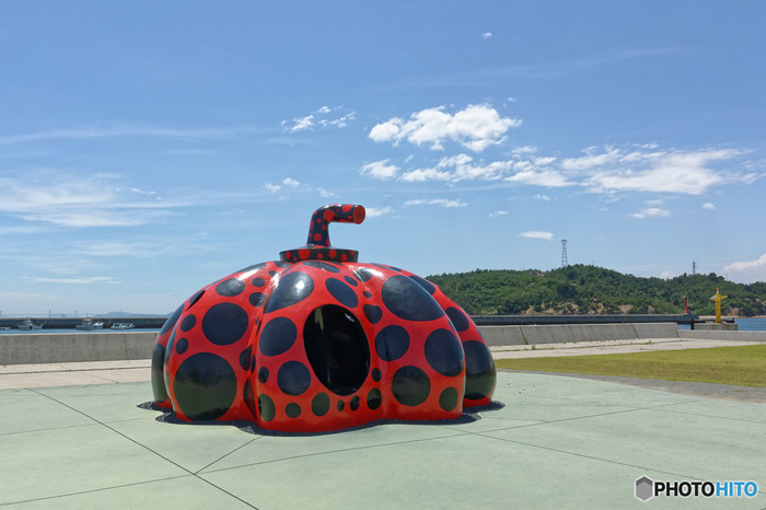 直島赤かぼちゃの写真