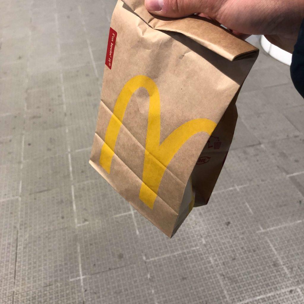 マクドナルドの袋