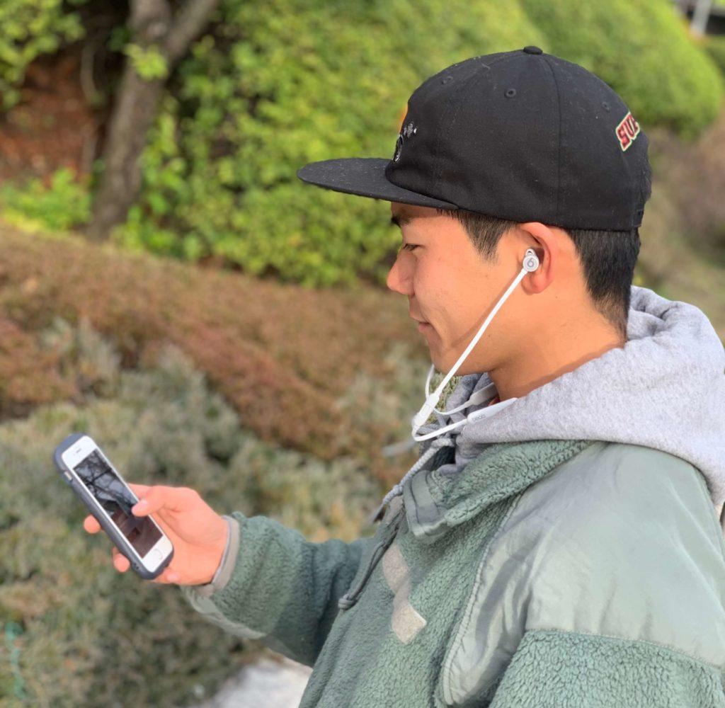 beatsXの着用写真