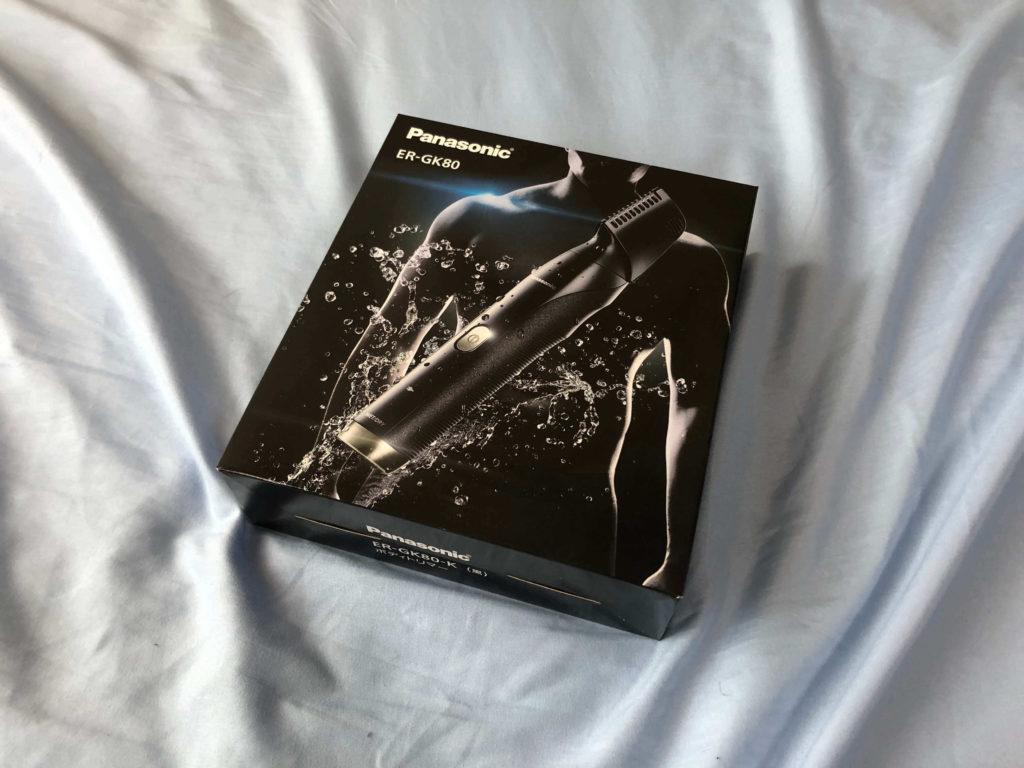 パナソニックのボディトリマーの箱の写真