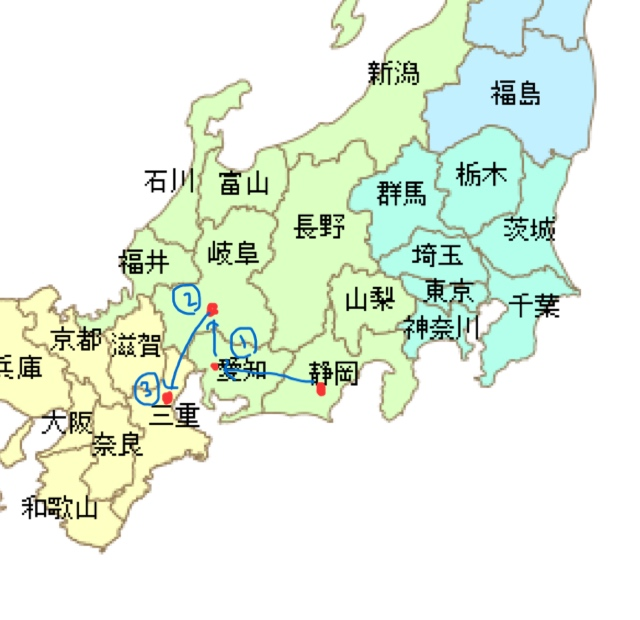 キャンピングカー日本一周旅行11日目に通ったルート