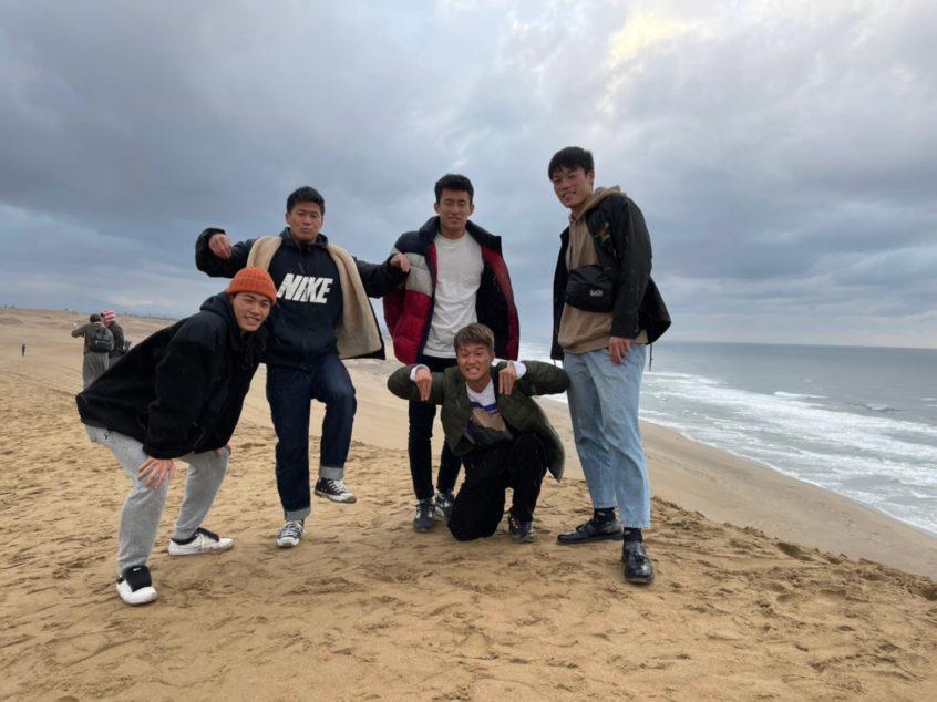 鳥取砂丘での集合写真