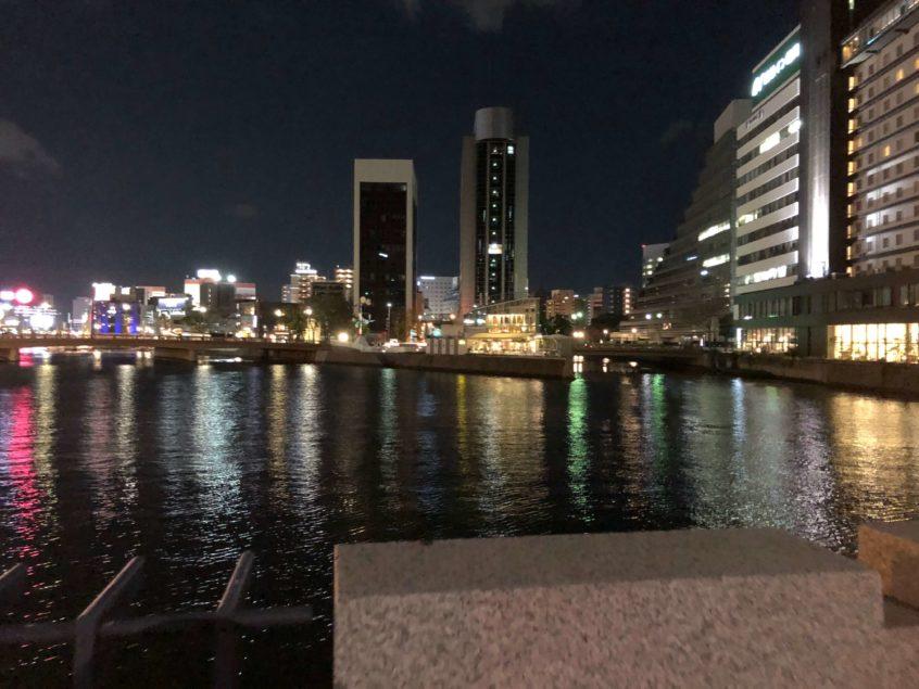 博多の近くの川